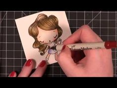 Quick Tip - Watercoloring with Tim Holtz Distress Markers