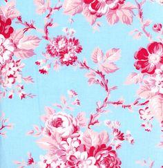 DARLA Tanya Whelan pic nic rose Blue by aspenfabrics on Etsy