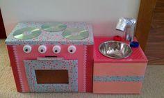 Kitchen made by Cardboard