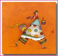 Gaelle Boissonnard - it looks like the girl went shopping :) I LOVE the combination of patterns!