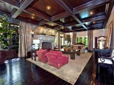 Nice dark wood. And I like the combination of rug and hardwood floor. (Los Angeles, CA)