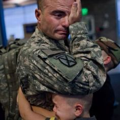 Deployment :( this makes me cry, so heart breaking. Always thankful for the military men & women who sacrifice a normal life to protect us