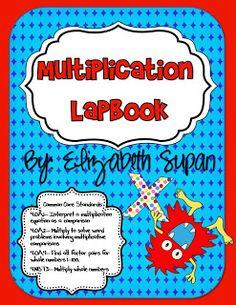 Multiplication lap book