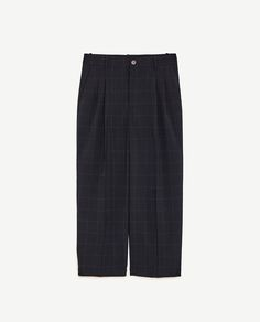 Image 8 of CHECKED TROUSERS WITH DARTS from Zara