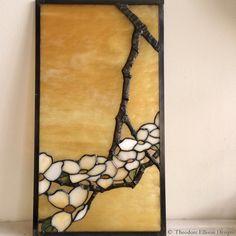 Dogwood leaded glass by Theodore Ellison Designs
