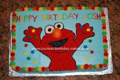 Homemade Elmo Birthday Cake: Thanks to all the great ideas from this site, I was able to come up with this Elmo birthday cake. My friend who is a much more experienced cake decorator