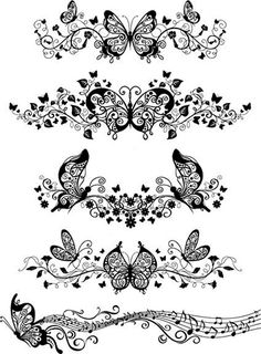 free tattoo templates Vector ornaments with . - free tattoo templates Vector ornaments with … – - Colouring Pages, Adult Coloring Pages, Stencils, Tattoo Templates, Butterfly Ornaments, Butterfly Pattern, Butterfly Template, Butterfly Outline, Butterfly Tattoos