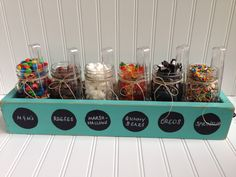 Ice Cream Sundae Topping Party Bar Mason Jar by SimpleSerendipity
