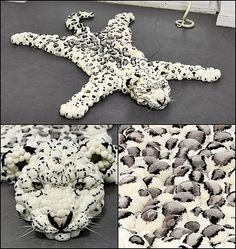 pom pom animal rug -Don't know if I would want this in my house but definitely a piece of art! Crafts To Do, Yarn Crafts, Diy Crafts, Pom Pom Animals, Pom Pom Rug, Pom Poms, Animal Rug, Diy Y Manualidades, Pom Pom Crafts