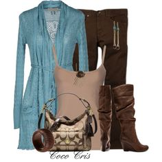 """""""Belted Cardigans"""" by coco-cris-1 on Polyvore"""