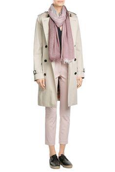 Kensington Long Cotton Trench Coat |