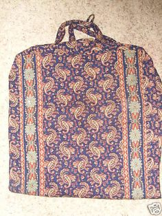 "Vera Bradley ""Navy Paisley"" Retired Rare Garment Bag"