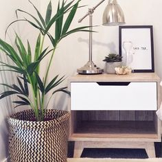 Update your bedroom with a Mocka Jesse Bedside Cabinet. Styled by The Style Compass.