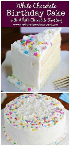 White Chocolate Birthday {or Easter} Cake ~ loaded with white chocolate in both the cake itself and the frosting! White Chocolate Birthday {or Easter} Cake ~ loaded with white chocolate in both the cake itself and the frosting! Food Cakes, Cupcake Cakes, Easy Cake Recipes, Dessert Recipes, Easy Birthday Cake Recipes, Pie Recipes, Dinner Recipes, White Chocolate Frosting, Cake Chocolate