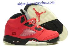 new york 6bd35 91245 Femmes Air Jordan 5 Bull Rouge Noir Chaussures New Jordans Shoes, Jordans  Sneakers, Nike