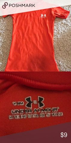 Youth under armour Bright orange under armour Under Armour Shirts & Tops