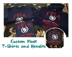 Custom Made T-Shirts and Hoodies  #FBLA #bevillems #customtshirts #school #middleschool #schoolclub #cynthiascraftsinvirginia #shopcynthiascraftsinvirginia