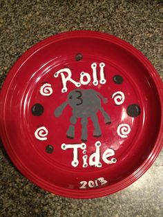 Elephant plant made with my daughters hand print.   Roll Tide