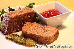 #RECETAS_en_ESPAÑOL / Pastel de carne Meatloaf. Receta  http://www.directoalpaladar.com/recetas-de-carnes-y-aves/pastel-de-carne-meatloaf-receta