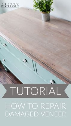 This dresser was dumpster bound and in need of extensive repairs. Watch as I repair and remove layers of damaged veneer to reveal a beautiful wood planking. I then use white gel stain and chalk paint to give this piece of furniture a beautiful diy makeover. Painting Veneer Furniture, White Painted Furniture, Furniture Painting Techniques, Paint Techniques, Chalk Paint Furniture, Distressed Furniture, Repurposed Furniture, Diy Furniture Renovation, Furniture Repair