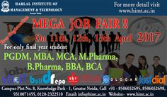 Free #Registration for Mega #Job Fair on 11th,12th ,13th on  #April  2017 http://www.himt.ac.in/