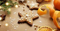 Christmas Sweets, Christmas Love, Christmas Decorations, Greek Cookies, Biscotti, Gingerbread Cookies, Baking Recipes, Food And Drink, Sugar