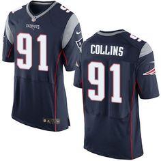 Nike New England Patriots #91 Jamie Collins Navy Blue Team Color Men's Stitched NFL New Elite Jersey