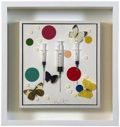 Damien Hirst, PILL & SYRINGE - HAPPY on ArtStack #damien-hirst #art