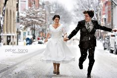 Vintage Winter Snow Bride