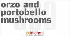 Orzo And Portobello Mushrooms | CDKitchen.com