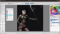 Drawing in krita: Speedpainting girl with weapons Weapons, Digital, Drawings, Art, Weapons Guns, Sketches, Art Background, Guns, Kunst