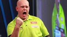 Michael van Gerwen posted the highest average in PDC World Darts Championship history to defeat Raymond van Barneveld and book a meeting in Monday's final with defending champion Gary Anderson.  Van Gerwen, the world number one, averaged 114.05 to beat Phil Taylor's previous best of 111.21.  Fellow Dutchman Van Barneveld himself posted 109.34, but still lost 6-2.  World number two Anderson, winner in 2015 and 2016, came past fellow Scotsman Peter Wright 6-3.