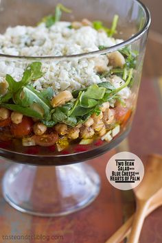 Two Bean Salad with Hearts of Palm and Blue Cheese - Taste and Tell
