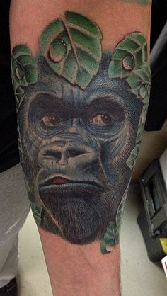 Gorilla done by Diego ️Mickey . All done with electric inks , at South side custom ink tattoos , Melborne -Australia