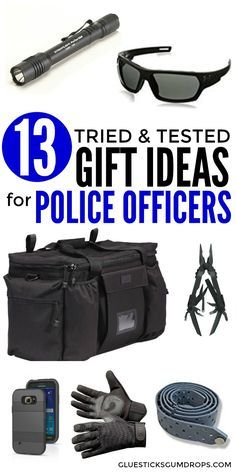 Looking for a gift to give a police officer in your life? Here are 13 gift ideas for cops that are tried and tested – items that my husband (a law enforcement officer himself) says he can't live without. Gifts for the LEO man or woman! Police Gear, Police Officer Gifts, Police Gifts, Police Police, Police Party, Police Academy Graduation Gifts, Police Officer Girlfriend, Gifts For Cops, Radios