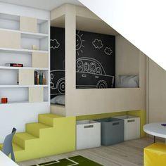 scandinavische Kinderkamer door BAGUA Pracownia Architektury Wnętrz