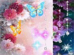 GIFS HERMOSOS: FLRES Y MARIPOSAS ENCONTRADAS EN LA WEB Flowers Pics, Flower Pictures, Beautiful Gif, Beautiful Roses, Flower Wallpaper, Screen Wallpaper, Roses Gif, Love Cartoon Couple, Heart Gif