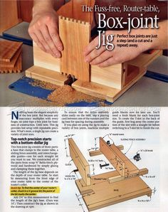#942 Box Joint Jig Plans - Joinery Tips, Jigs and Techniques