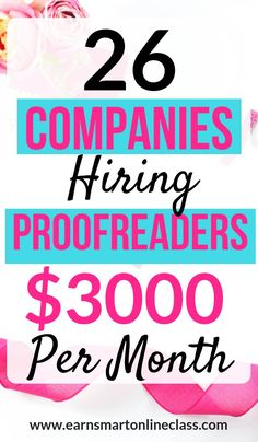 Looking for proofreading jobs you can do from home for beginners Heres a list of 26 awesome companies hiring proofreaders this year You can make up to 3000 per month as a. Earn Money From Home, Earn Money Online, Make Money Blogging, Online Jobs, Way To Make Money, Online Careers, Earning Money, Blogging Ideas, Quick Money