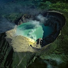 kawah ijen volcano on the island of java in indonesia