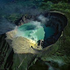 kawah ijen volcano on the island of java in indonesia