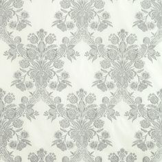 Carolina Grisaille 69712 by Schumacher Fabric Couture 100% Cotton USA - H: 8.5, V: 25 51 - Fabric Carolina - Schumacher
