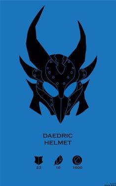 Skyrim Daedric Helmet by Emma Shea