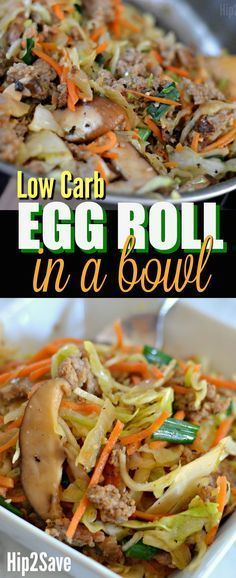 Egg Roll in a Bowl (Easy Low Carb and Keto Recipe Idea) – and very delicious and healthy ingredients too. Hip2Save: