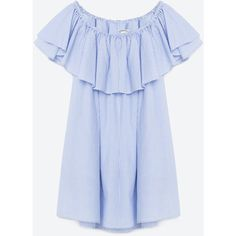 ROBE À RAYURES - ROBES-FEMME | ZARA France ($50) ❤ liked on Polyvore featuring dresses, zara, blue dress, stripe dresses, blue stripe dress, blue striped dress and striped dress