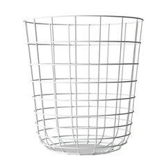 Menu 9000639 Draht-Papierkorb, Höhe 35 cm, Durchmesser 32 cm, weiß