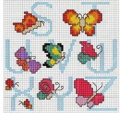 Alfabeto mariposas parte 3