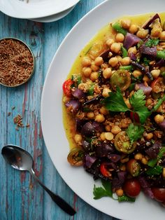 Late Summer Farro Salad - the perfect Salad to transition from Summer to Fall.