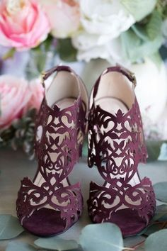 Pretty Shoes, Beautiful Shoes, Cute Shoes, Me Too Shoes, Unique Shoes, Fall Wedding Shoes, Bridal Shoes, Burgundy Wedding Shoes, Colorful Wedding Shoes