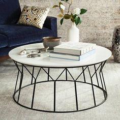 Safavieh Deion Retro Mid Century Wood Coffee Table White - FOX4259B